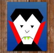 "Image of Vlad the Vegan Vampire 8"" x 10"" Quilt Block Pattern PDF"