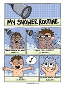 Image of My Shower Routine Poster