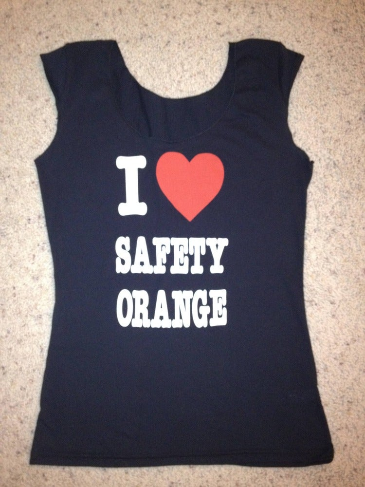 "Image of GT2- girls ""I Love Safety Orange"" Tee"