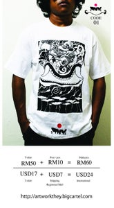Image of THEY Artwork printed T-shirt Code 01