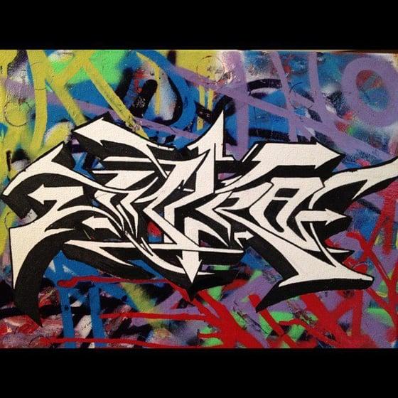 Image of Intro graffiti canvas