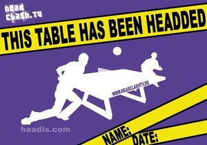 "Image of ""This table has been headded"" Sticker"