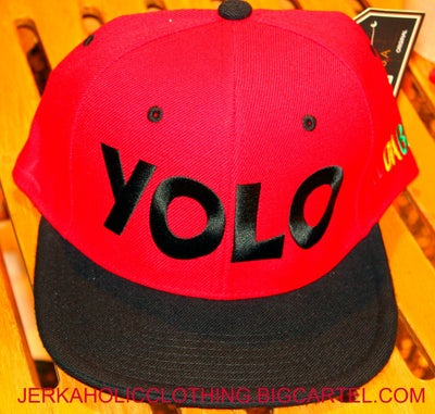 Image of RED #YOLO SNAP BACK
