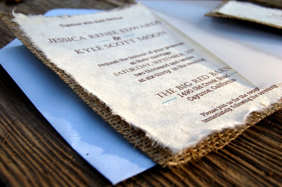 Invitations by alecia do it yourself d i y simple rustic burlap do it yourself d i y simple rustic burlap wedding invitation rustic barn wedding with blue sky acc solutioingenieria Image collections