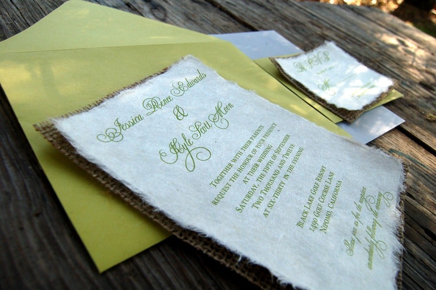 Do It Yourself Wedding Invitations: Do It Yourself D-I-Y Simple Rustic