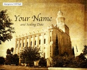 Image of St George Utah LDS Mormon Temple Art 004 - Personalized LDS Temple Art