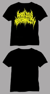 Image of Atrocious Abnormality yellow logo shirt