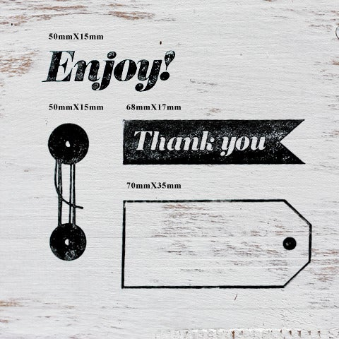 Image of ENJOY Wooden Stamp