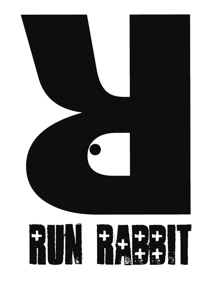 Image of Run Rabbit Logo Tee - Red