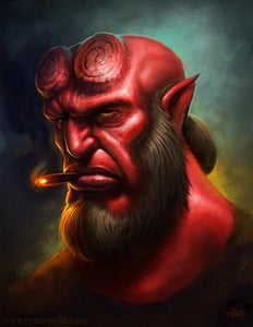 Image of Hellboy Portrait (Limited Edition Print)