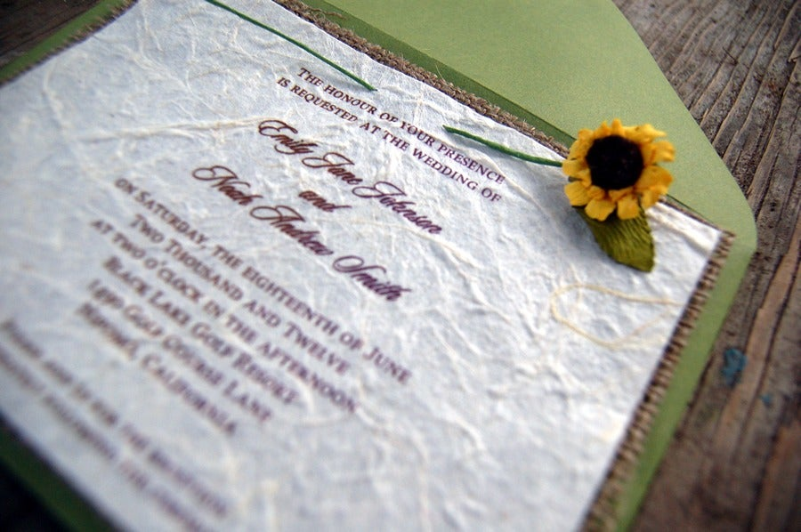 Invitations by alecia do it yourself d i y rustic burlap sunflower do it yourself d i y rustic burlap sunflower wedding invitation sage envelope rustic barn wedding solutioingenieria Image collections