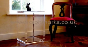 Image of Acrylic Side Table UK