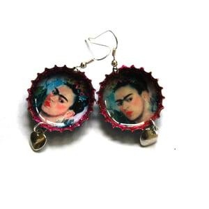 Image of Frida Kahlo self portrait with flowers