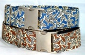 Image of Retro Leaves Dog Collar