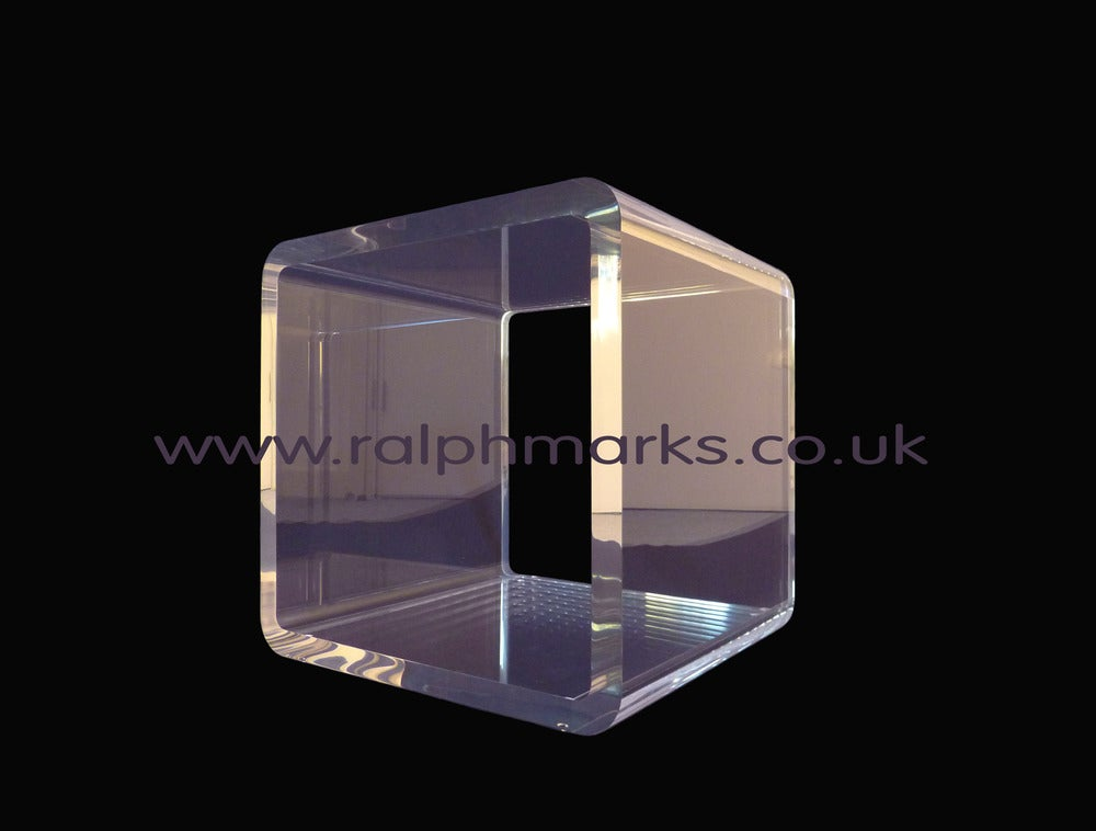 Ralph Marks Perspex Acrylic Furniture UK Acrylic Side Table UK - Acrylic cube side table