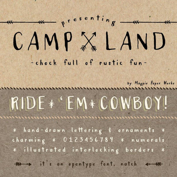 Campland Font - Magpie Paper Works