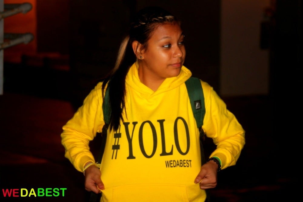 Image of BUMBLE BEE YELLOW #YOLO HOODIES LIMITED