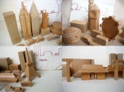 Image of muji wooden city blocks-tokyo, edo, london, or new york sets