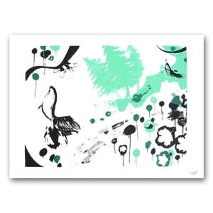 Image of PEET MASSÉ <BR> Heron Kiss <BR> (Screen print)