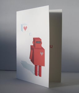 Image of Printable Robot Anniversary Card