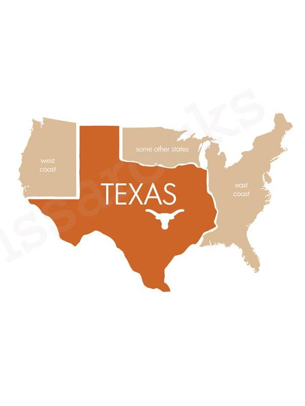 Image of Football Texas Print