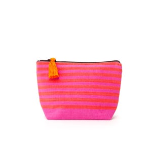 Image of Small Tassel Bag Pink/Melon