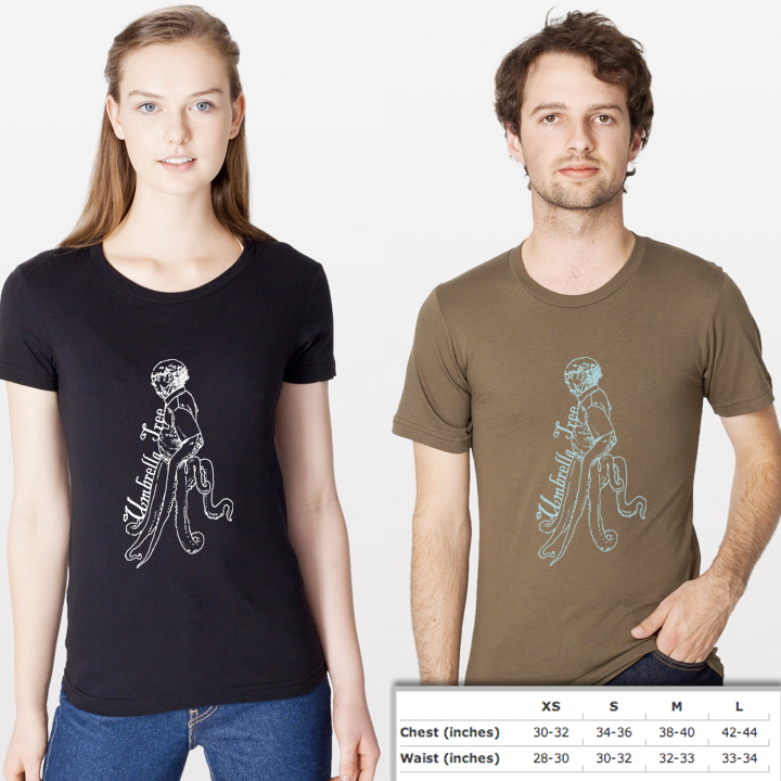 Image of T-shirt with Octopus Design