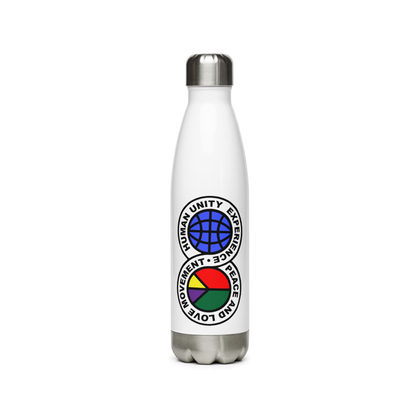 Image of humanunityexperiencepeacelovemovement water bottle