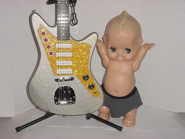 Image of Very Cool Vintage Super Tall Kewpie Doll With Wings!