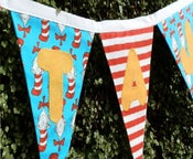 Image of Dr Seauss Cat in a Hat Bunting