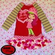 Image of **SOLD*Strawberry Shortcake Valentine's Dress - Size 3T/4T