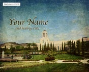 Image of Newport California LDS Mormon Temple Art 001 - Personalized LDS Temple Art