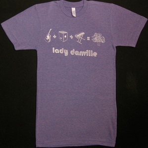 Image of Purple fuzzy math T-Shirt