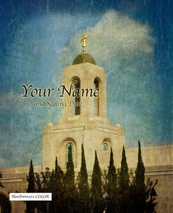 Image of Newport California LDS Mormon Temple 002 - Personalized LDS Temple Art