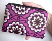 Image of Purple Little Zipper pouch coin purse Gadget Case ECO Friendly Fancy Purple Orchid (Padded)
