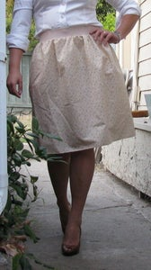 Image of Vintage Rose Print Skirt
