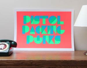 Image of Pistol Packing Punks print