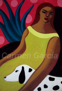 Image of Mujer y dálmata