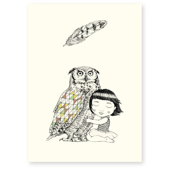 Image of Affichette Hibou A5