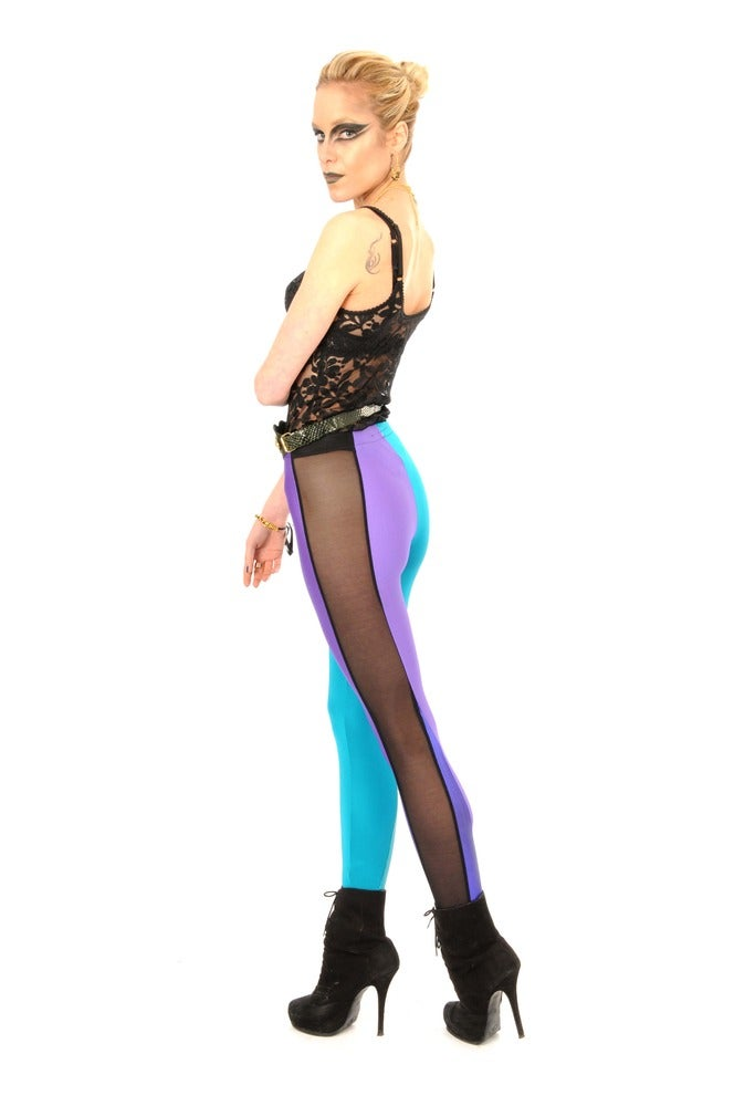 Image of ONIA LEGGINGS in JADE Vs VIOLET