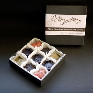 Image of Box of 9 Assorted Raw Chocolates