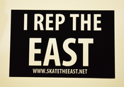 "Image of ""I Rep The East"" Sticker"