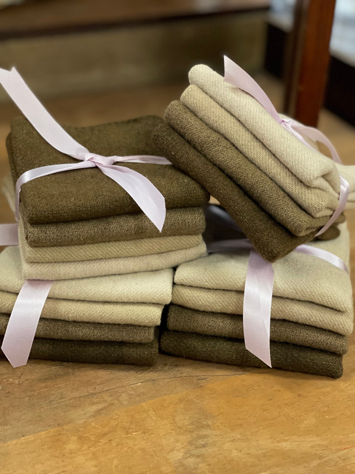 Cocoa Hand Dyed Wool Bundles
