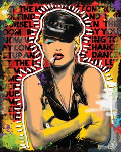 "Image of MADONNA 16"" X 20"" Mixed Media on Mounted Canvas"