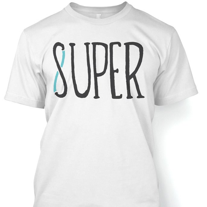 Image of 'Super8' Tshirt White