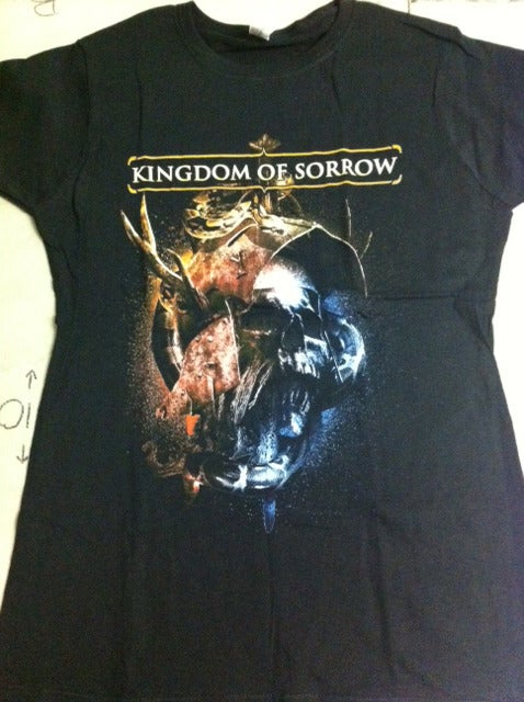 Image of Kingdom Of Sorrow 2nd Album Cover Babydoll Girl Shirt