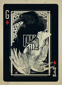 Image of Good vs Evil Playing card Poster