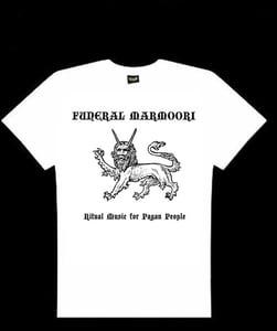 Image of Funeral Marmoori logo t-shirt white