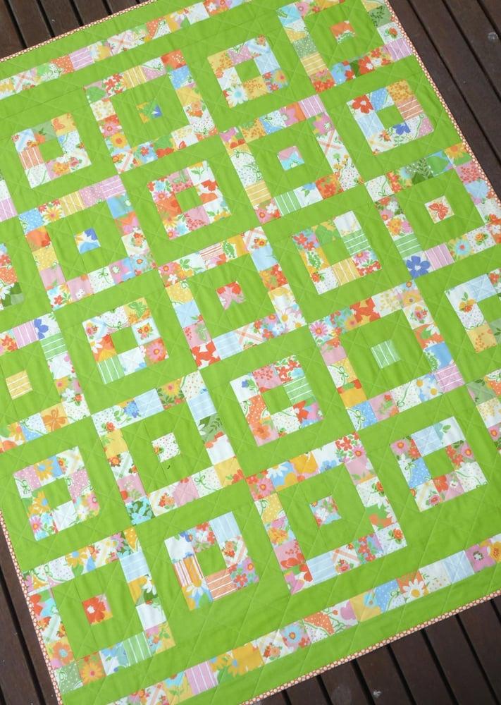 Image of Take 1 ~ A Layer Cake Quilt Pattern (pdf file)