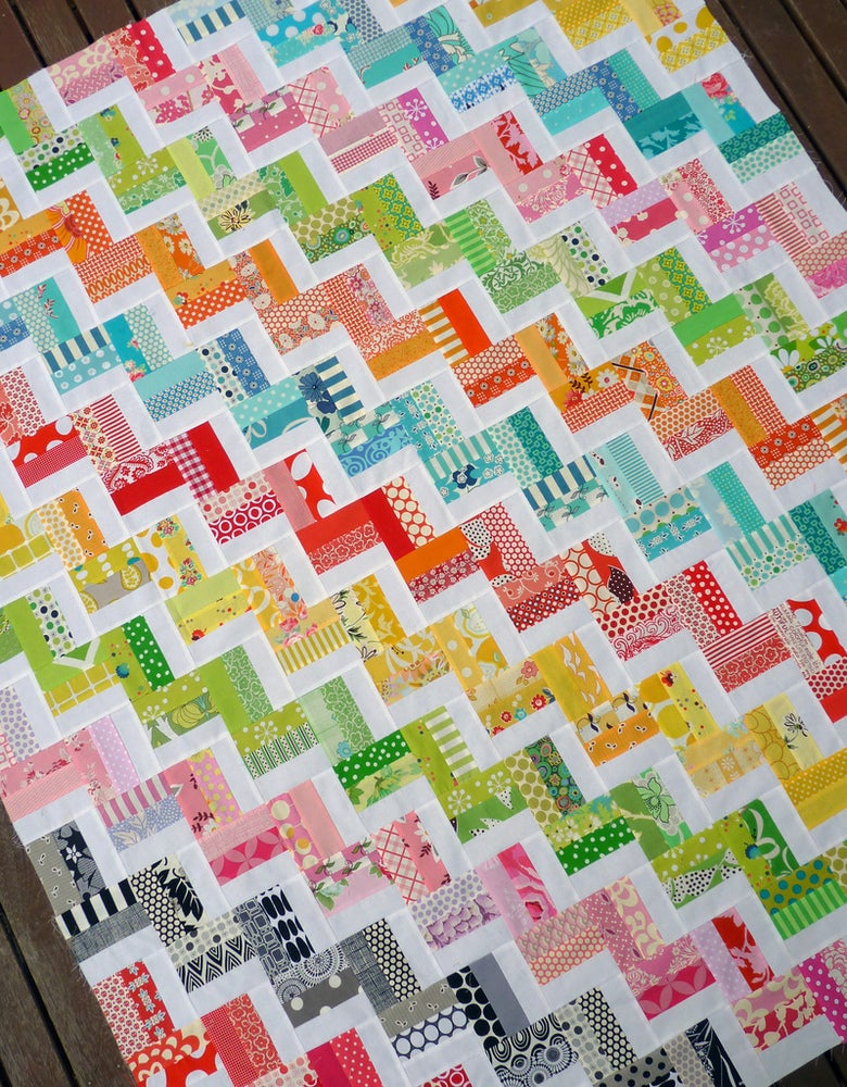 Image of Zig Zag Rail Fence Quilt Pattern (pdf file)
